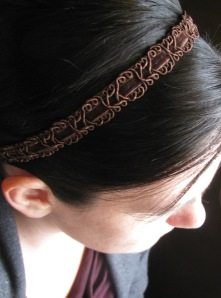 brown headband cropped